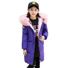 Children's Winter Cotton Warm Jacket For Girls New 2019 Thicken Winter Coat Kids Hooded Velour girls jackets Conton Outwear new lq9d01c hmi plc lcd monitor liquid crystal display