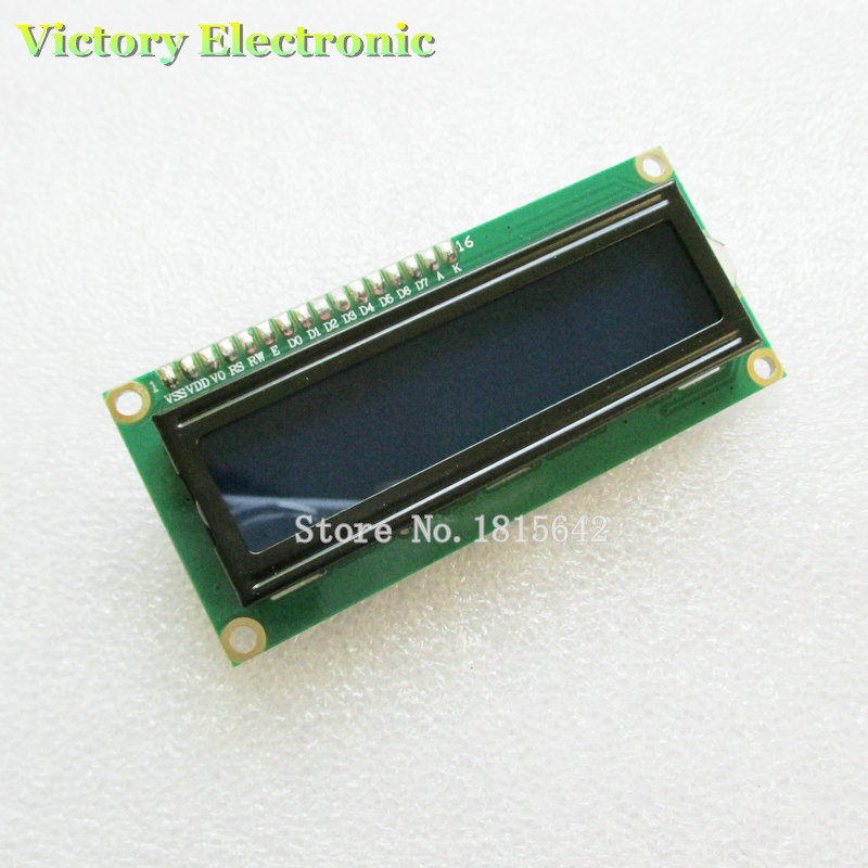 New LCD Module IIC/I2C 1602 LCD1602 LCD Screen Module Blue Screen White Code Backlight  Wholesale M
