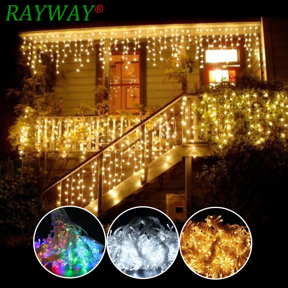 468dc3ee83a Comprar 6 m x 3 m 600 LED casa vacaciones al aire libre decoración de  Navidad de la boda de Navidad luces de la secuencia de hadas guirnaldas de  fiesta ...