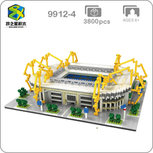 2019 Borussia Dortmund Football Club Signal Iduna Park Stadium 3D Model DIY Mini Diamon Building Blocks Toy Gift Collection
