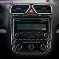 Karbon Fiber iç trim Merkezi Konsol CD Hava Paneli Çıkışı Dekoratif Çerçeve Sticker volkswagen scirocco Aksesuarları 09-13