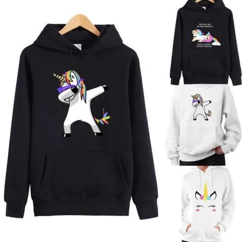 Womens Long Sleeve Hoodie Sweatshirt Pullover Unicorn Jumper Coat Hooded hoody hoodies sweatshirt for women