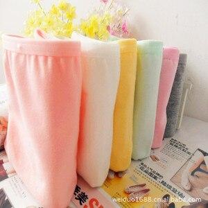 Image 3 - 6 Stuks Katoenen Meisjes Ondergoed Solid Lage Taille Korte Slips Comfortabele Antibacteriële Vrouw Slipje 100% Merk