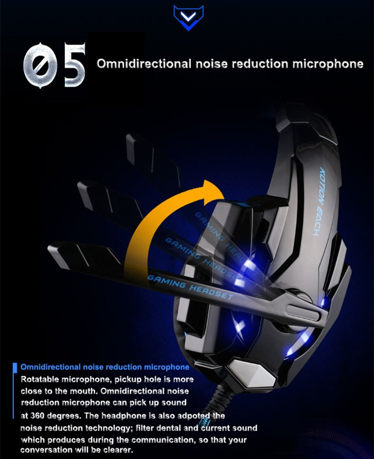 G9000 USB 7.1 Surround Sound Version Game Gaming Headphone Computer Headset Earphone Headband with Microphone LED Light (7)