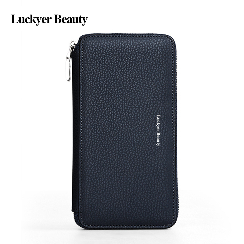 Long Wallets Card-Holder Handy-Bags Day-Clutch Male Fashion Famous-Brand BEAUTY LUCKYER