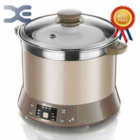 Electric Stoves 2.5L High Quality 1 Pot 4 Liner Slow Cooker 220V Electric Cookers Mini Casserole Crockpots Cooker