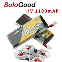 5PCS SoloGood Lipo Batteries 1S 3.8V 1100mAh 80C Rechargeable Battery with PH2.0 Plug Connector for Indoor Racing Drone Toy
