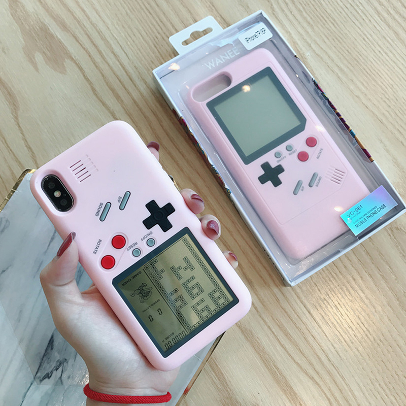 For NS Tetris Gameboy Phone Case For iPhone 6 6S Plus Case Soft Edge Game Console Back cover For iPhone X 7 8 Plus case