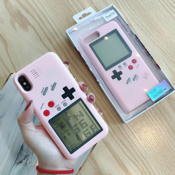 For Ninetendo Tetris Gameboy Phone Case For iPhone 6 6S Plus Case Soft Edge Game Console Back cover For iPhone X 7 8 Plus case