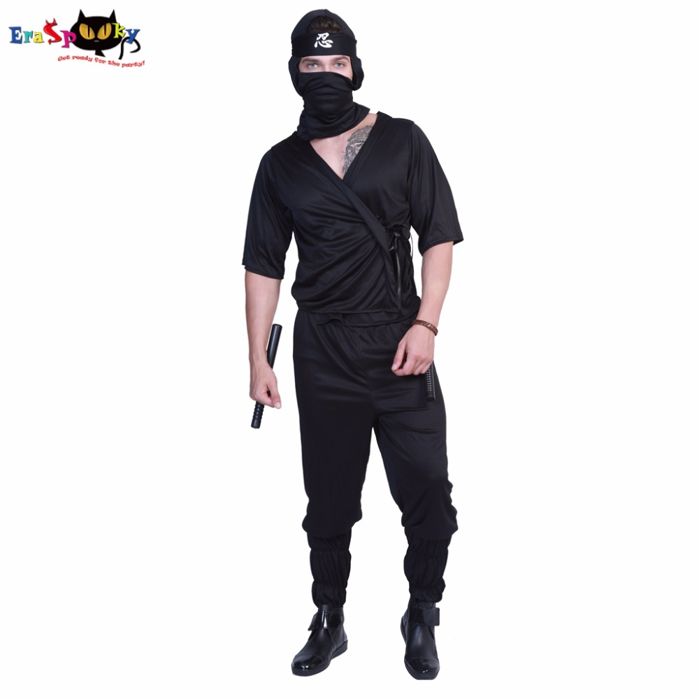 Eraspooky halloween costumes for men adult carnival costumes 2018 party Japanese cosplay masculino Ninja Assassin Men Costume