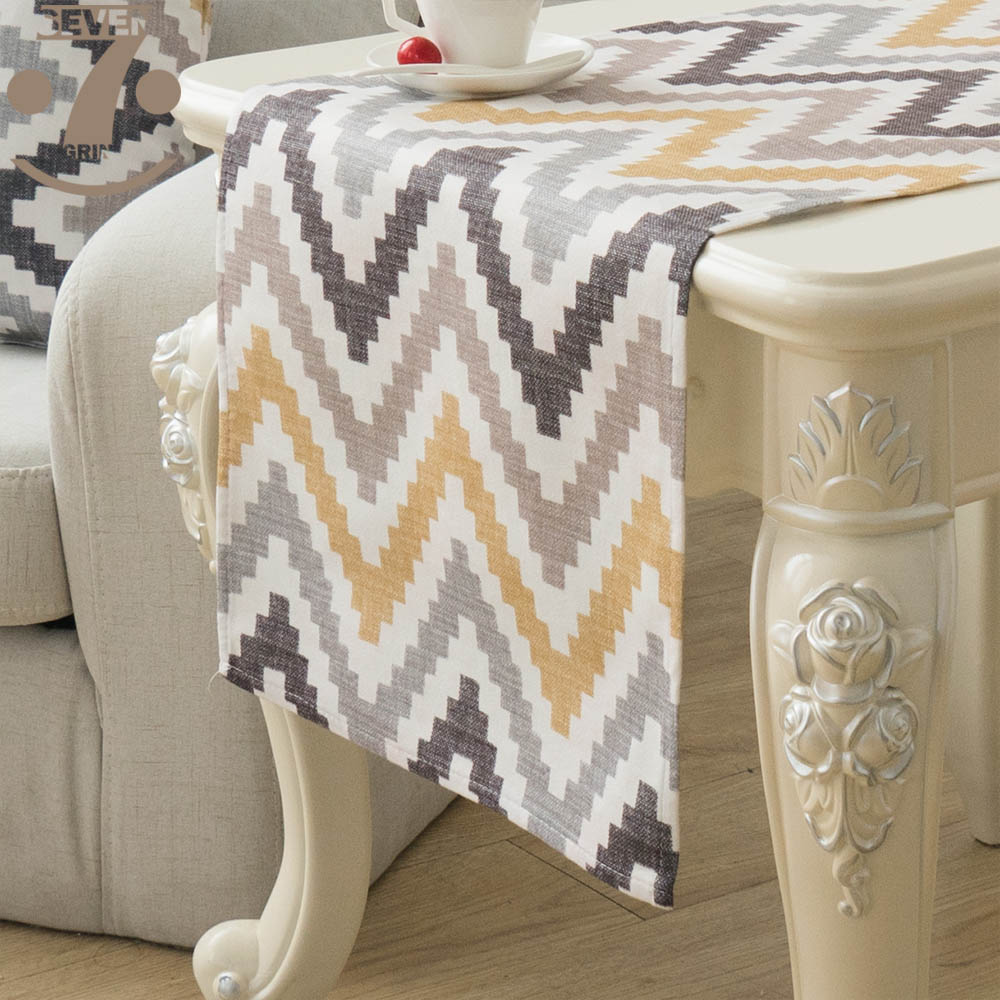 Free Shipping Home Decorative Dining Banquet Birthday Festival Cute Waves  Styles Geometric Printed Table Runner image 3d6e913649f6
