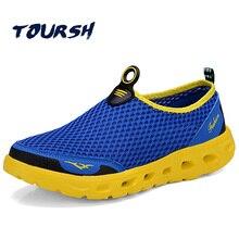 TOURSH Water Shoes Man Summer Water Sandals Waterproof 2017 Men Breathable Aqua Shoes Men Outdoor Sandals Men Trekking Trail