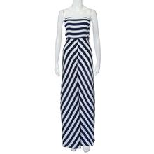 Women Clothing Sexy Long Maxi Party Sleeveless Strapless Dress Stripe Seaside Beach Dress Sundress 2018 New Women Spring Summer