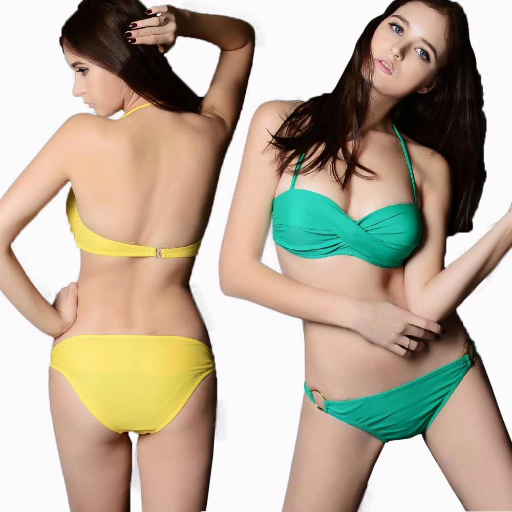 b026 vs marca bandeau top push up bikini set per le donne sexy costumi da bagno