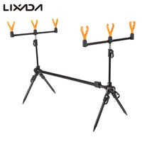 Lixada Adjustable Retractable Carp Fishing Rod Pod Stand Holder Fishing Pole Pod Bracket Fishing Tackle Fishing Accessory Pesca