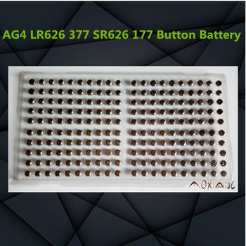 Nowy 200 sztuk partia Ag4 1 5v przycisk baterii lr626 377 sr626sw 177 przycisk baterii komórki zegarek zabawki elektroniczne tanie i dobre opinie PANGBUDELE CN (pochodzenie) 18MAH 6 8*2 6mm Alkaline batteries