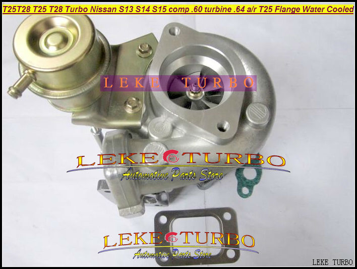 Free Ship T25 T28 T25T28 T25/28 Turbo TurboCharger For Nissan Engine S13 S14 S15 comp .60 Turbine .64 AR T25 Flange Water Cooled free ship turbo rhf5 8973737771 897373 7771 turbo turbine turbocharger for isuzu d max d max h warner 4ja1t 4ja1 t 4ja1 t engine