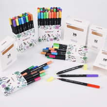Calligraphy Soft Brush Pen Set Watercolor Markers Washed Painting Pen for Color Art Marker Stationery for School