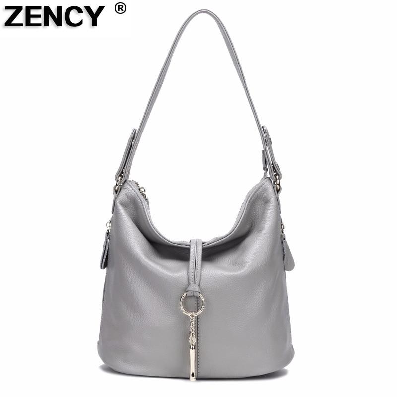ZENCY Soft 100 Genuine Cow Leather Handbags Small Girl Women Shoulder Designer Messenger Crossbody Ladies Bag
