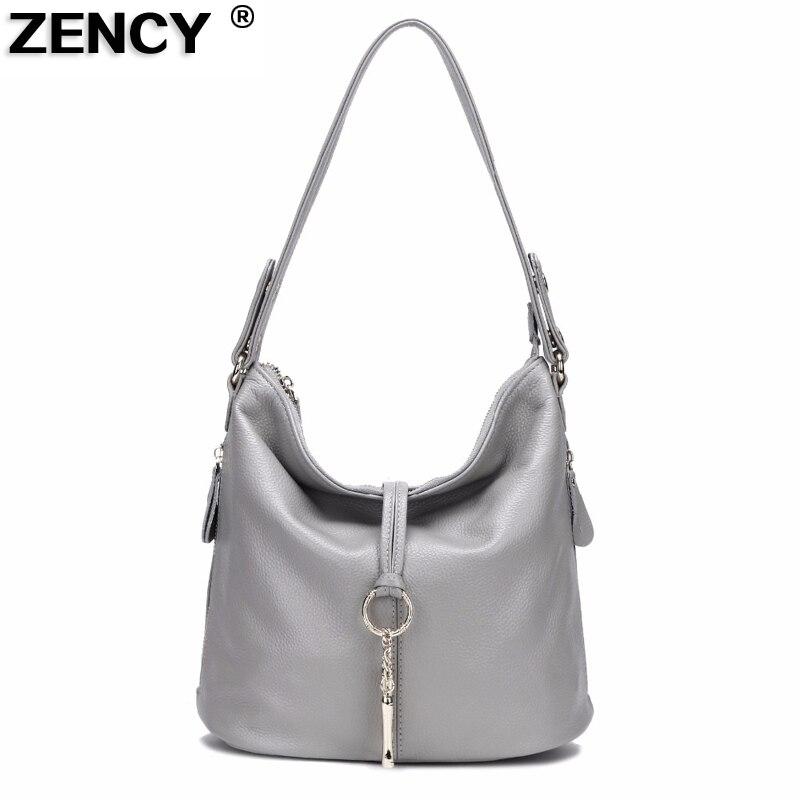 ZENCY Soft 100% Genuine Cow Leather Handbags Small Girl Women Shoulder Designer Messenger Crossbody Ladies Bag Satchel Bolso