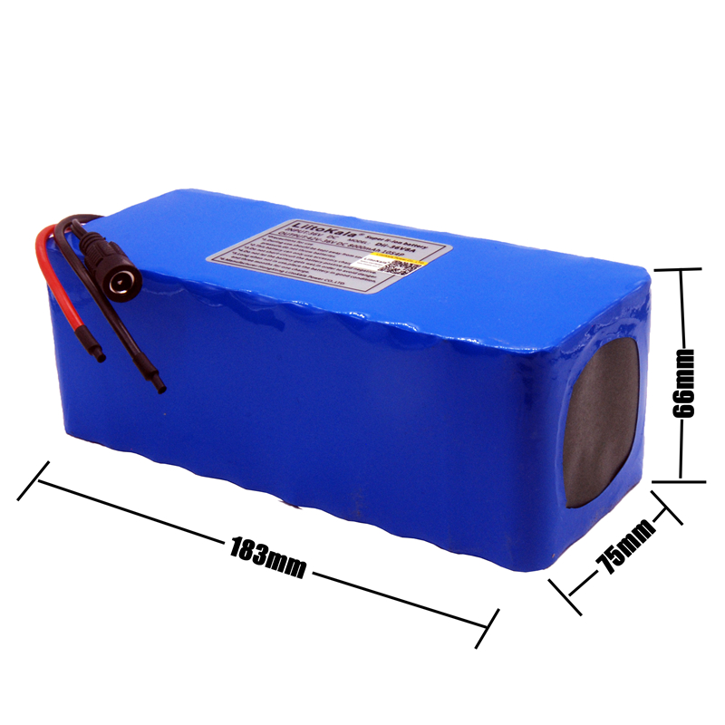 Image 2 - LiitoKala 36V 10ah 500W 18650 lithium battery 36V 8AH Electric bike battery with PVC case for electric bicycle-in Battery Packs from Consumer Electronics