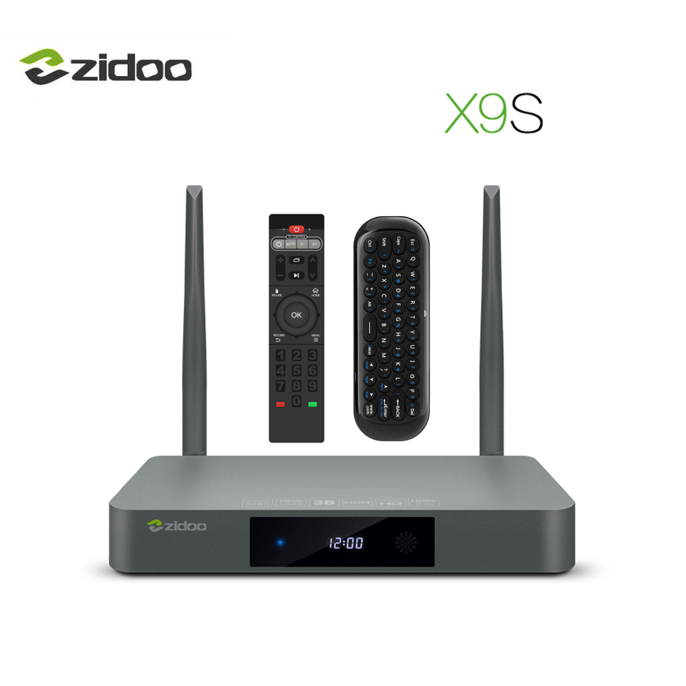 ZIDOO X9S Media Player 4 k HDR TV Box Android 6.0 Quad Core Set top Box 2g DDR3 NAS intelligente tvbox Dual band Wifi Android Top Box