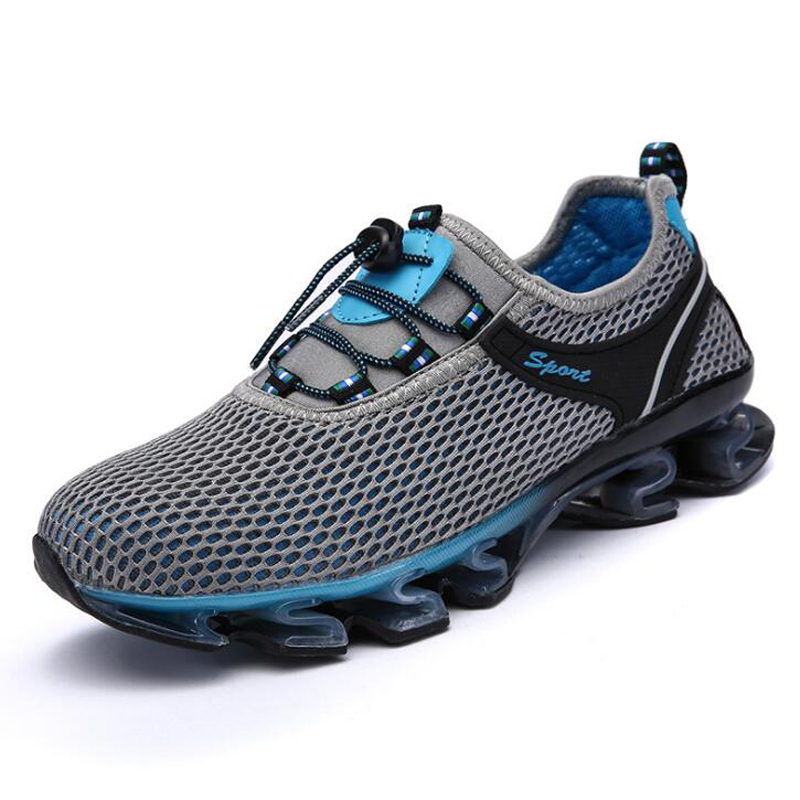 Dark Haute gray À Chaussures Été Casual Hommes Lacets Blue Royal Respirant 2018 De Sneakers Printemps Mesh bleu Blue Qualité ZqwXOF