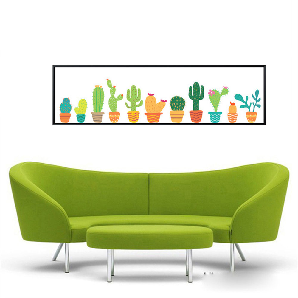 xdr044 Nordic Watercolor succulent Green plant Canvas Art Print - Home Decor - Photo 2