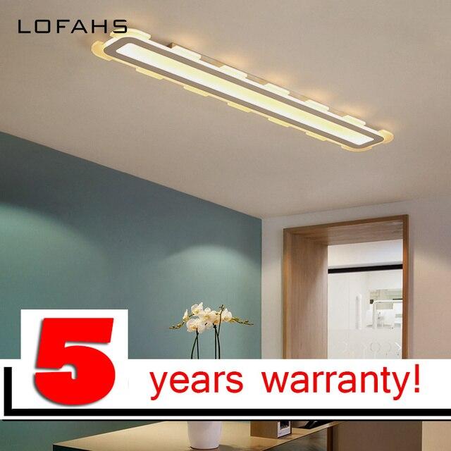 LOFAHS LED Ceiling Light Modern Strip Long Plexiglass Kitchen Home Lighting For Dining Room Corridor Living Bedroom Lamp