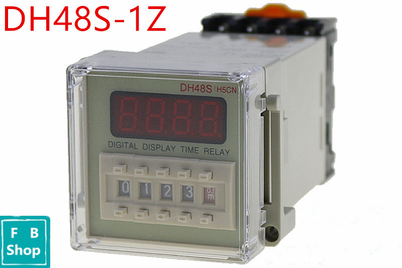 цена на DH48S-1Z SPDT 12V 24V 110V 220V AC Digital Timer Relay On Delay 8 Pins Reset/Pause Function
