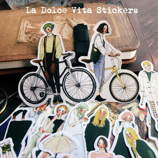 280pcs/pack Cute Girls Original Size Handbill Sticker Woman Sen Girls Handbill Diary Photo Album Decorative Stickers Tape
