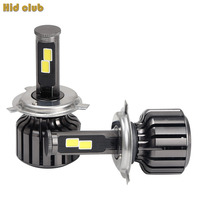 All In One Double COB LED Car Headlight Coversion Kit Foglight 90W 9000LM Bulb Kit H1