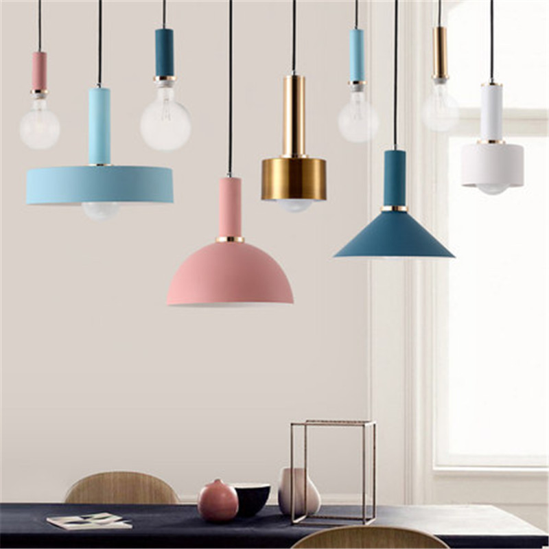 Ceiling Lights & Fans Led Pendant Lights Nordic Vintage Loft Pendant Light Iron Lampshade Lamps For Living Room/bedside Lighting E27 Holder Fixture Consumers First Pendant Lights