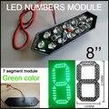 """8 """"зеленый светодиодный цифровой модуль числа, привело цены на газ, привело знак, рекламный щит, светодиодные афиша, светодиодные температуры и времени на дисплее"""