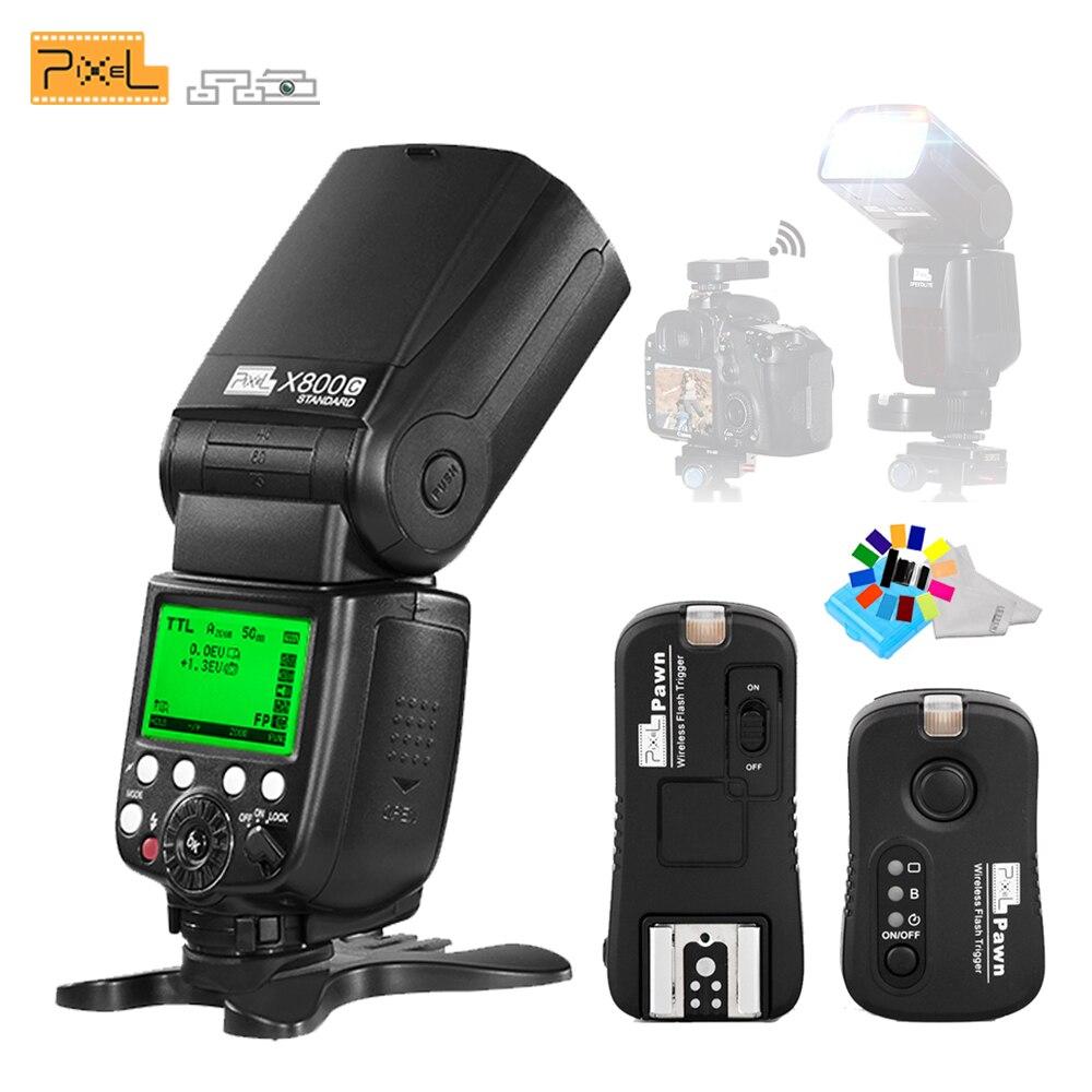 Pour Canon EOS 7D 6D 5D 700D 650D 650D DSLR caméras Pixel X800C sans fil TTL HSS flash Speedlite lampe de poche + déclencheur Flash TF-361