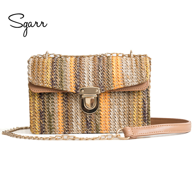 SGARR High Quality Women Straw Small Shoulder Bag Fashion Summer Strap Ladies Crossbody Beach Bags Handmade Flap Messenger Bags