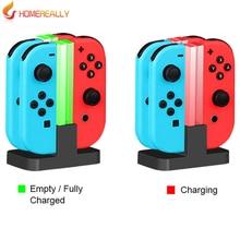 Homereally красочный свет для Nintendo переключатель charging dock 4 в 1 зарядки standtion для Nintendo переключатель НС N-переключатель аксессуар