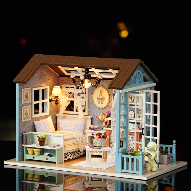 Wooden DIY Doll House for Kids