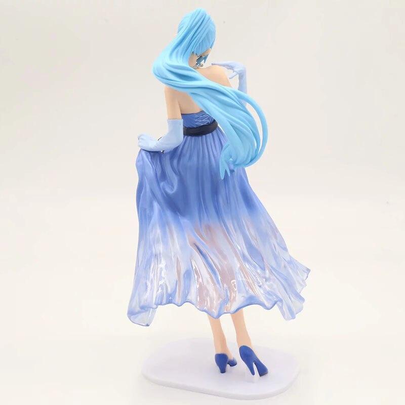 One Piece Vivi Princess Action Figure Blue White Lady Edge Wedding Dress  Ver. Vivi PVC figure Toys Brinquedos Anime 22CM-in Action   Toy Figures  from Toys ... 13d9b262e2b1