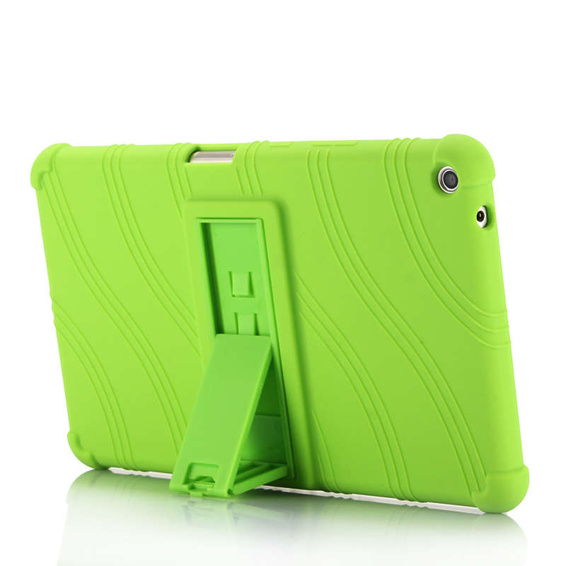 Wave Silicon Kickstand Soft Shell For Huawei Mediapad T3 8.0 Protective Skin Cover For Case Huawei T3 8 KOB-L09 KOB-W09