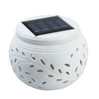 Outdoor Lighting Garden Yard Path Patio Ceramics Solar Wall Light Popular Solar Lamp Ni MH Battery