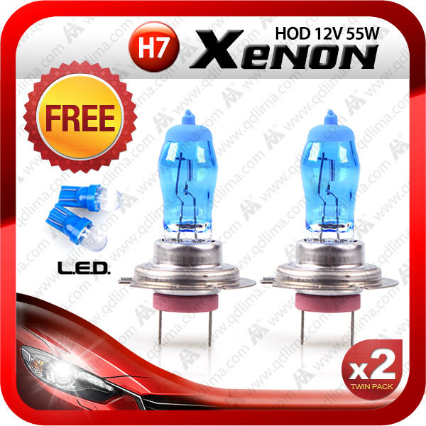Xenon White Upgrade Front Light Headlight Bulbs Package 501 H7 H1 H8 100w