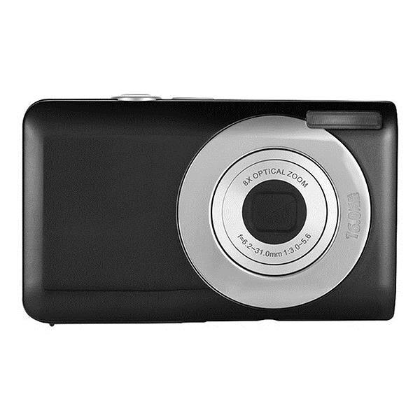 كاميرا رقمية مدمجة Dc V100 قابلة للشحن بطارية ليثيوم كاميرا مع تكبير بصري 5X ، تكبير رقمي 4X (أسود)|كاميرا فيديو 360 درجة|   -