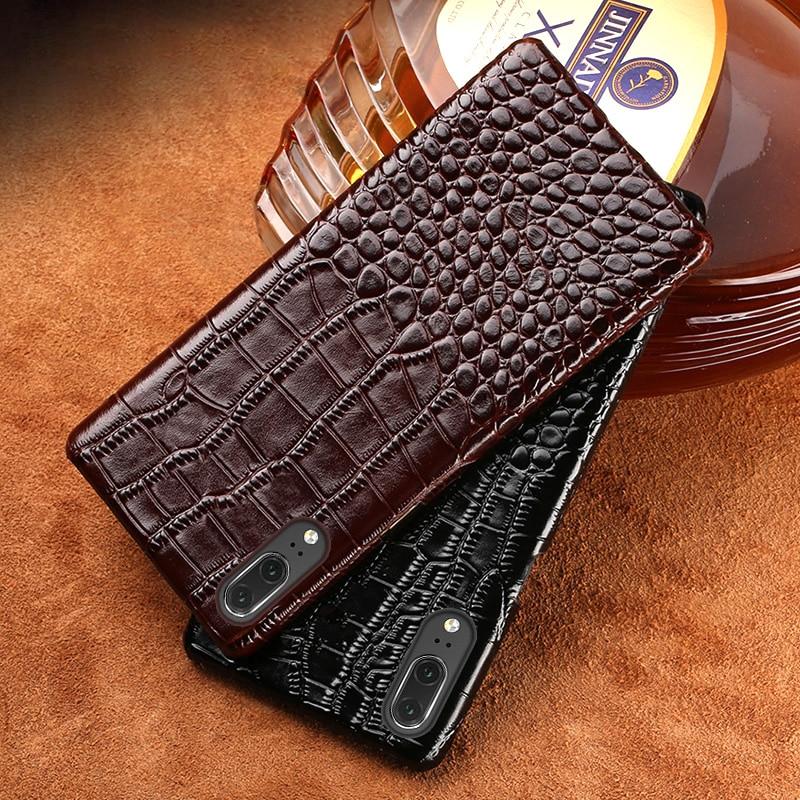 Telefon Fall Für Huawei Mate 9 10 20 P8 P9 P10 P20 Pro Lite fall Krokodil Textur zurück abdeckung Für ehre 7X8 9 Lite 10 V10 fällen