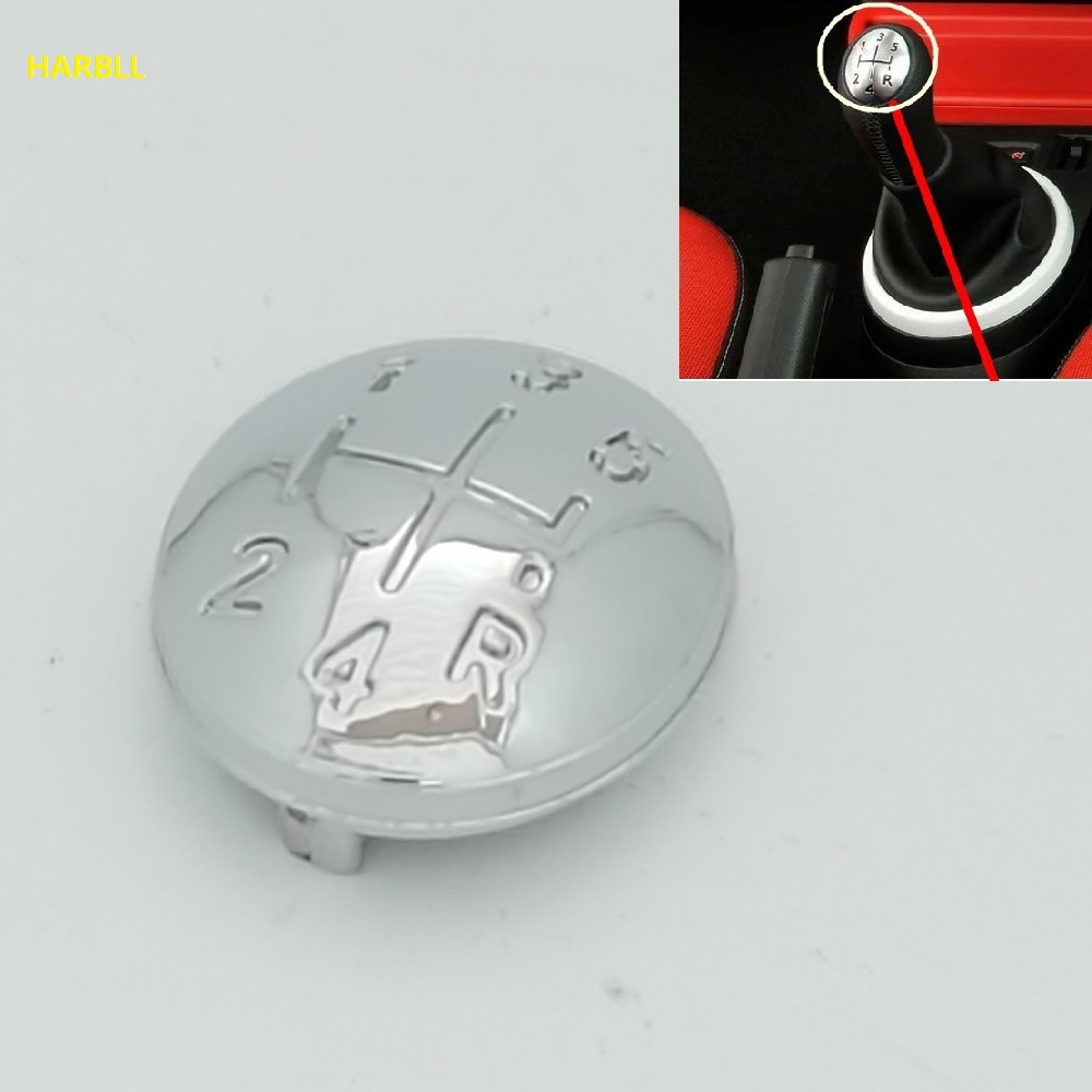 5 Speed Gear Shift Knob Cap For Renault Clio Megane Scenic Twingo Chrome Handball Head Cap
