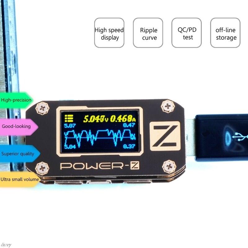 POWER-Z USB PD тестер QC3.0 2,0 Зарядное устройство Напряжение ток пульсации двойной Тип-C KM001 LS'D инструмент