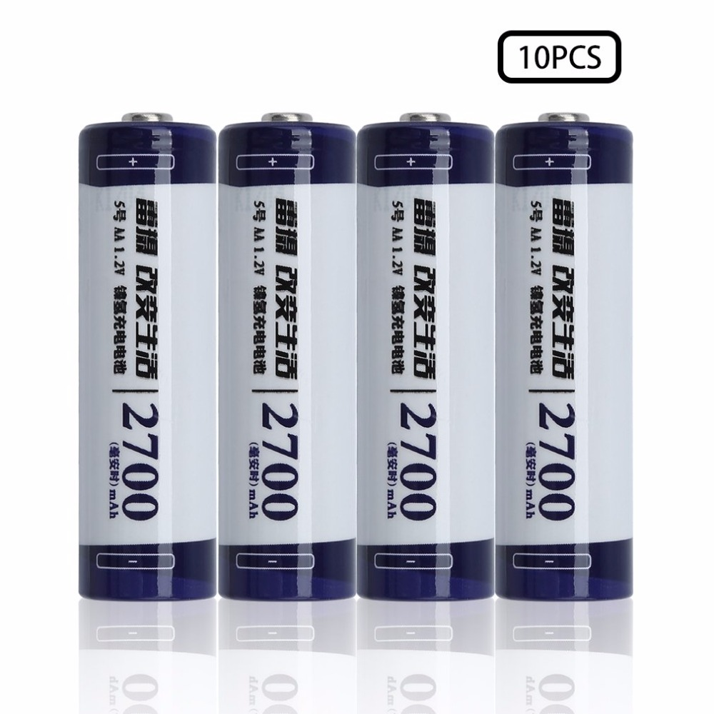 10pcs/lot LEISE 1.2V AA 2700mAh Ni-MH Battery Rechargeable Battery High Capacity Economic Batterries