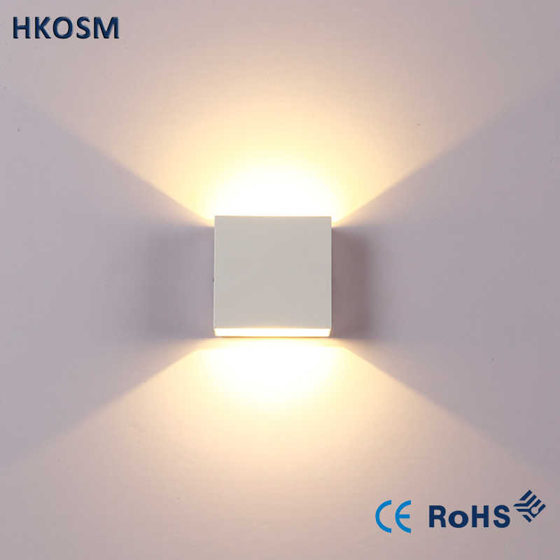 6W dimmable Led Wall Lamp Luminaire Apliques Pared Lamparas de Pared Wall Sconce bedroom LED Wall Light White/Warm White