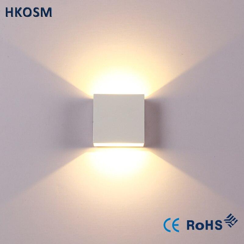 6 Вт затемнения светодиодный светильник настенный светильник Apliques сравнению lamparas де сравнению бра спальня светодиодный настенный светильник белый/ теплый белый
