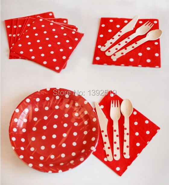 Free Shipping 1000PCS Wedding Birthday Party Decoration  Napkins Red Colorful Polka Dot  Baby Shower Kid's Party Paper  Napkins